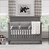 Liz and Roo Cubby Bumperless Crib Bedding 3 Piece Set, Gray/Taupe