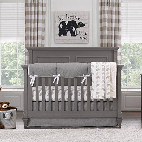 Liz and Roo Cubby - Juego de ropa de cama (4 piezas), color gris
