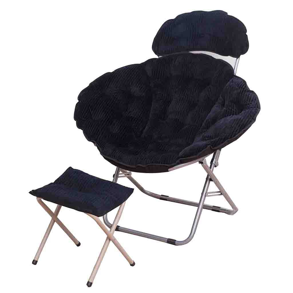 2  YD Moon Chair - Folding Chair Round Steel Frame Folding Portable   6 color (color   4 )