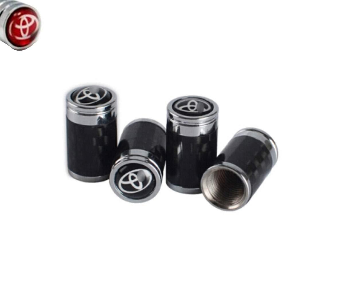 L-Bluebell CFRP tap/ón de v/álvula es Adecuado para Toyota tap/ón de la Boquilla del neum/ático del Coche y Cubierta de la v/álvula de Rueda