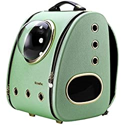 CloverPet Luxury Cats Dogs Puppy Pet Travel Bubble Carrier Backpack,Mint Green