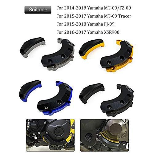 FATExpress Motorcycle CNC Aluminum Engine Crash Guard Side Protector Frame Slider for 2014-2018 Yamaha MT-09 FZ-09 FJ-09 MT09 FZ09 Tracer FJ09 XSR900 XSR 900 14-18 2015 2016 2017 (Titanium)