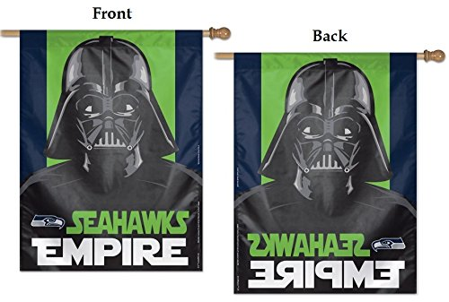 WinCraft Seattle Seahawks Official NFL 27 inch x 37 inch Banner Flag 405814
