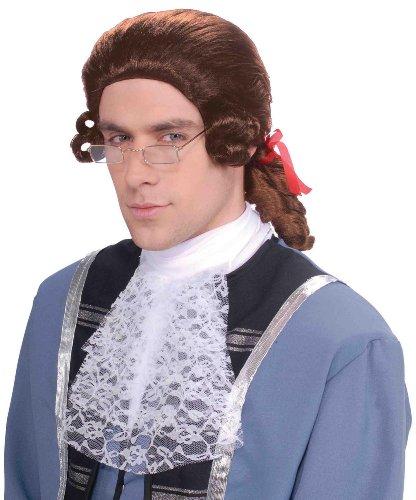 [Men's Colonial Brown Wig] (Colonial Brown Wig)