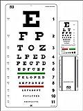 Snellen Eye Chart 22 x 11 Inch with Snellen Pocket Eye Chart Pack of 2 Charts