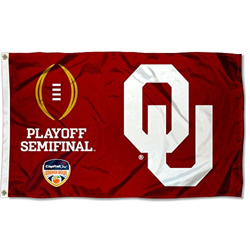 College Flags and Banners Co. OU Sooners 2015 Football Playoff Flag ()