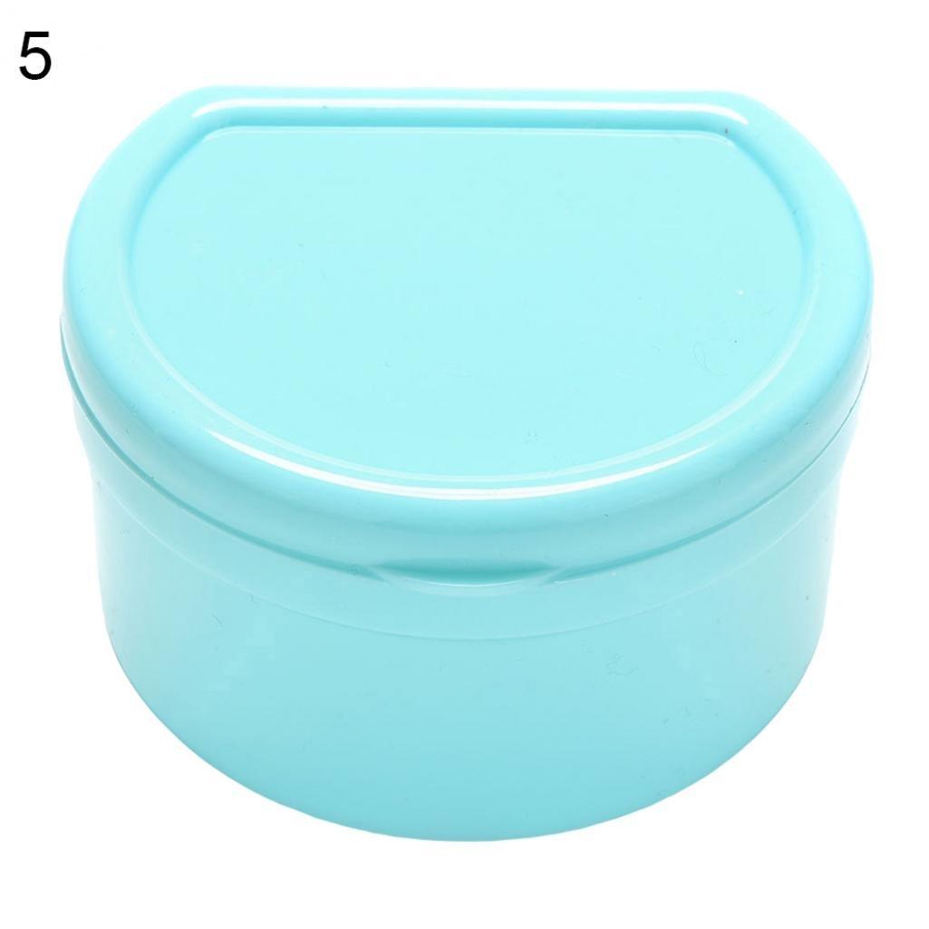 Braceus 1 Pc Dental Orthodontic Retainer Denture Storage Box Mouthguard Container Case (Pink Green)