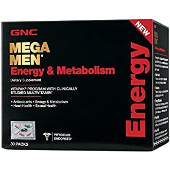 GNC Mega Men Energy and Metabolism Capsules, 30 Count