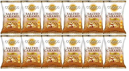 Premium Puffed Corn - Salted Caramel Popcorn Without Hulls - Gluten-Free Snack - 6.5 Ounces Each Bag (Pack of - Salted Corn