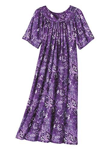 - AmeriMark Lounger House Dress with Pockets for Women Muu Muu Nightgown