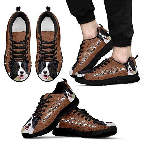 Casual Collie Border Black Men's Sneakers 11 Dog Amazing Brand Print SRw4EqYnF
