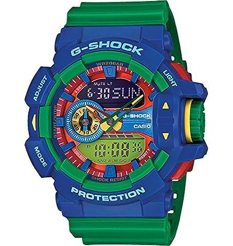 Casio G-Shock Blue Dial Turquoise Resin Quartz Men's Watch GA400A-2A (Blue G Shock Men)