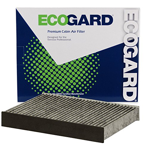 EcoGard XC10619C Premium Cabin Air Filter with Activated Carbon Odor Eliminator Fits Fiat 500X 2017, 500L 2014-2019 | Jeep Renegade 2015-2019, Compass 2019