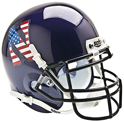 Schutt Northwestern Wildcats Mini Authentic Helmet - Flag N - NCAA Licensed - Northwestern Wildcats - Mini Wildcats Northwestern Helmet Authentic