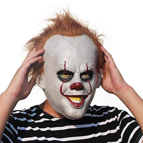 YLJYJ Costume Mask Cosplay Halloween Scary Latex Realistic Prop Party Face Mask for Kids Adults Fancy Dresses Masquerade Party Cosplay