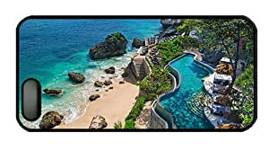 Hipster iphone 5 most protective case Indonesia Bali coast beach stones pools PC Black for Apple iPhone 5/5S