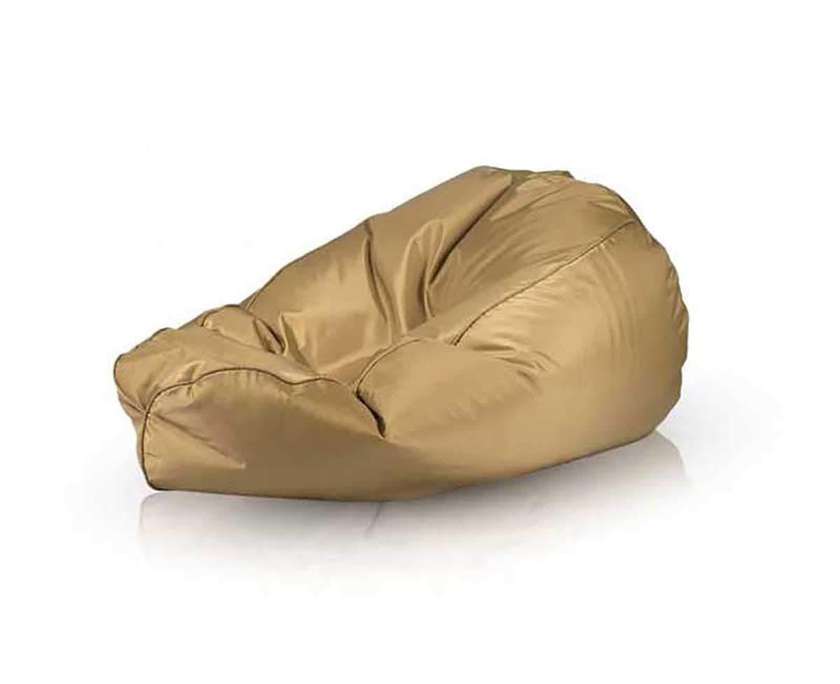 Ecopuf Gold Puff Poltrona Sacco XL Pouf Impermeabile per Esterno Arredo Giardino Dim 85 x 135 Cm