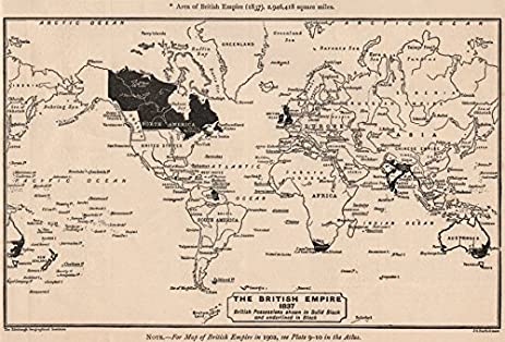 Amazon british empire the british empire in 1837 sketch map the british empire in 1837 sketch map bartholomew 1901 gumiabroncs Choice Image