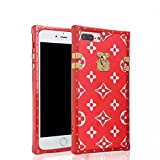 Luxury Famous Deluxe Fashion soft back cover case skin for iphone LV65 (Flowers Red for iphone 6 plus 6s plus)