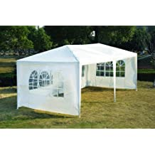 Outsunny 10' x 20' Wedding Party Tent Outdoor Event Camping Gazebo Canopy with 4 Removable Sidewalls