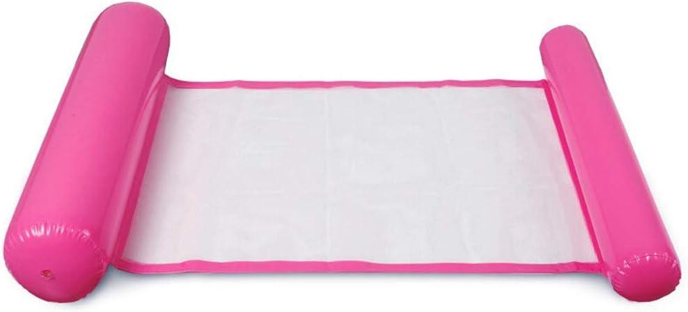 Rosa a Tenuta stagna Pieghevole Amaca dAcqua 130 * 73cm Lettino Gonfiabile reclinabile Gonfiabile Zattere gonfiabili Nuoto Lettino da Piscina Galleggiante per Adulti