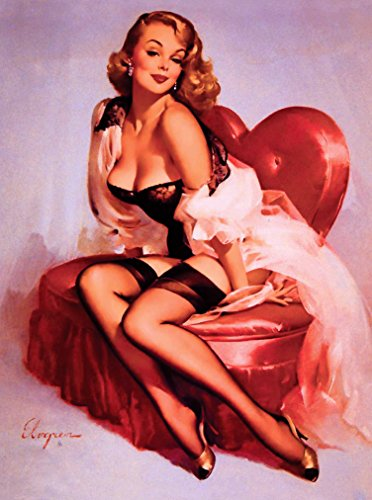 [1940s Pin-Up Girl You Have My Heart Picture Poster Print Art Vintage Pin Up] (1940s Pin Up Girl)
