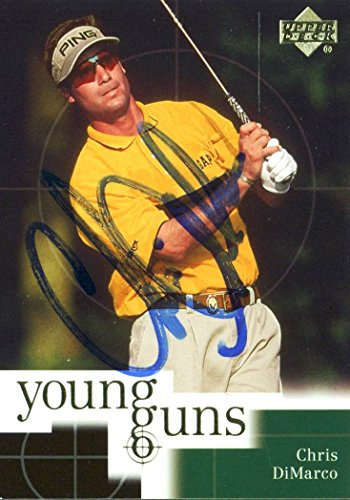 (Chris DiMarco Authentic Signed Card 2001 Upper Deck Golf Young Guns #73 w/ COA )