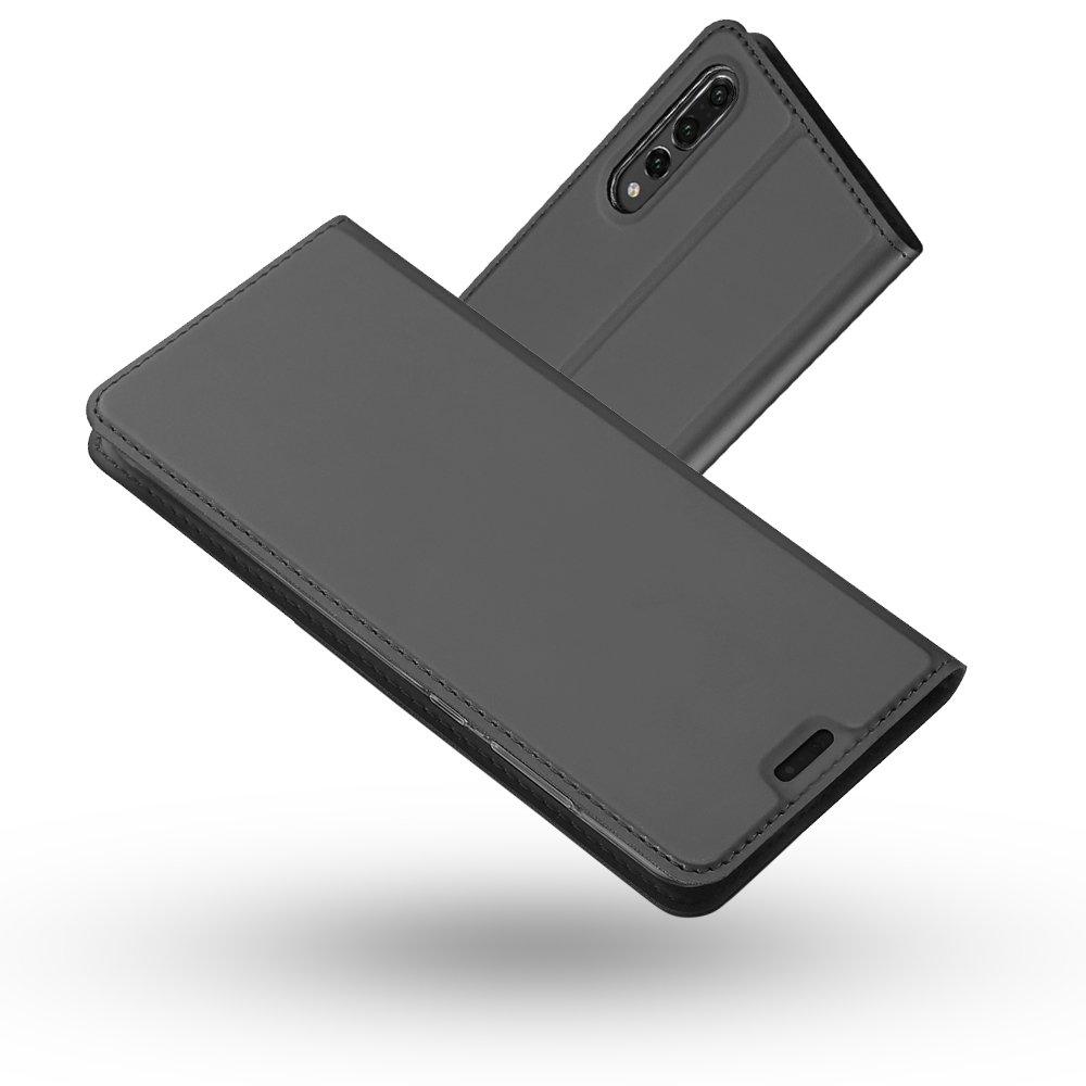 Coque Huawei P20 Pro, Radoo Ultra Mince en Cuir PU Premium Housse à Rabat Portefeuille Coque [Antichoc TPU] [Protection Complète] Étui de Protection Bumper Folio à Clapet avec [Fente pour Carte] [Fermoir Magnétique] pour Huawei P20 Pro (Or) RAD-DD-PU-04260