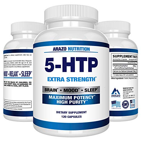 5-HTP 200 mg Supplement - 120 Capsules - Arazo Nutrition by Arazo Nutrition (Image #8)
