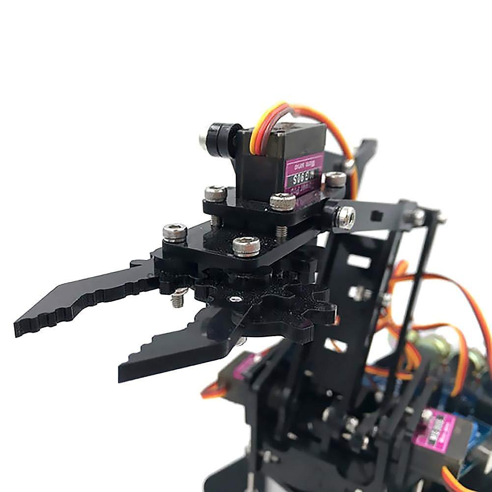 4-Axis Brazo Mecanica Garra, Rodamientos de Alta Calidad con Buena Precisión, Mecanica Robótica Juguete de Enseñanza para Niños: Amazon.es: Bebé