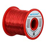 BNTECHGO 28 AWG Magnet Wire - Enameled Copper Wire - Enameled Magnet Winding Wire - 16 oz - 0.0126'' Diameter 1 Spool Coil Red Temperature Rating 155 degrees C Widely Used for Transformers Inductors