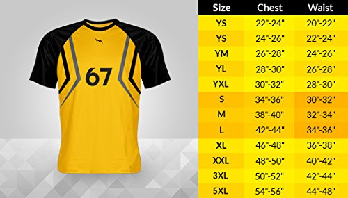 LightningWear | Print Long Athletic Shirt, Men's | Moisture Running Clothing, Custom Shirts,