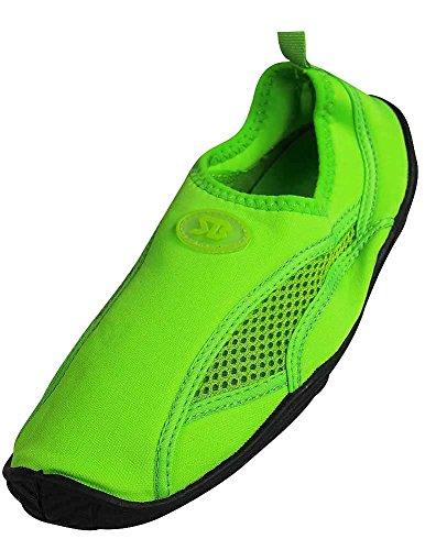 StarBay - Damen Wasserschuh Aqua Sock Grün 2909