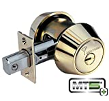 Mul-t-lock MT5+ Hercular Single Cylinder deadbolt w/Thumb turn - Satin Chrome