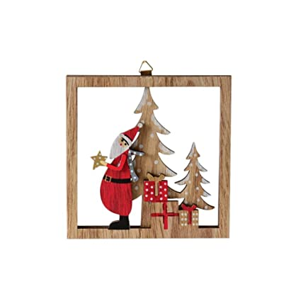 imshie wooden christmas decoration 3d ornaments christmas wooden cutout pendant christmas tree decoration christmas door hanging