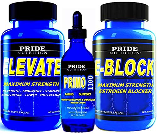 #1 Muscle Building Stack - Anabolic Strength & Recovery Support with Estrogen Blocker - 3 Bottles - Best Lean Muscle Mass Building Stack