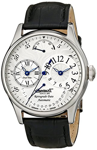 Ingersoll Men's IN3608WH Ragtime Stainless Steel Watch with Black - Watch Retrograde Luxury