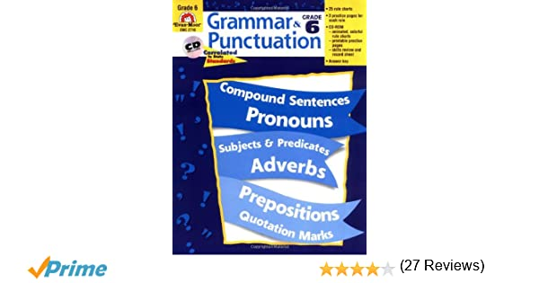 Amazon.com: Grammar and Punctuation, Grade 6 (9781557998507): Evan ...
