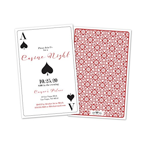 Personalized Casino Night Party Invitations -