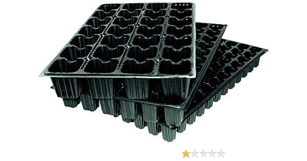 Flower 90063 - Bandeja semilleros, 1 unidad, 28 cavidades cada una, color negro: Amazon.es: Jardín