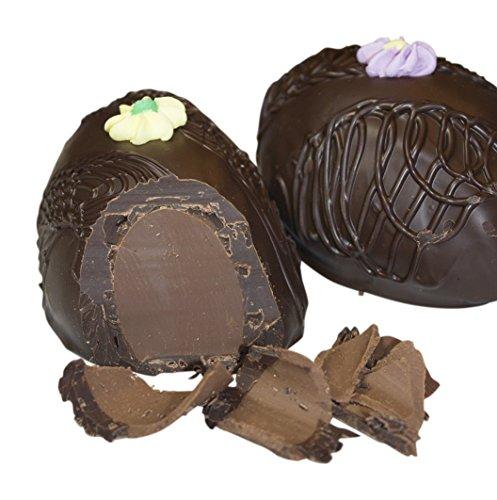 Philadelphia Candies Chocolate Meltaway Easter Egg, Dark Chocolate 8 Ounce Gift Box