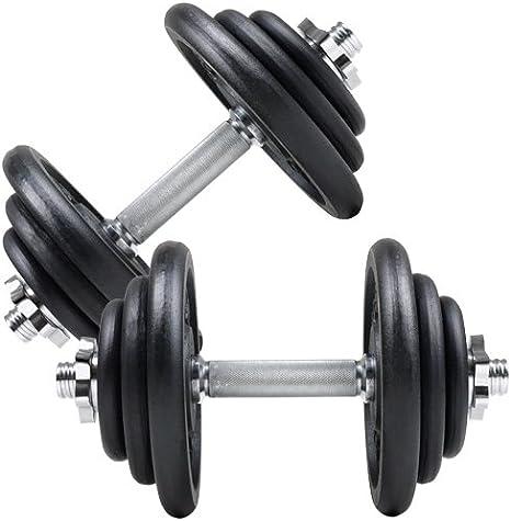 ScSPORTS® 10 kg Kurzhantel Hantelset Kurzhantelset Hanteln Gewichte Kunststoff