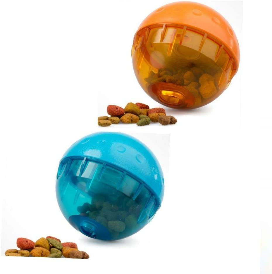 Our Pets IQ Treat Ball 4 INCH Interactive Food Dispensing Dog Toy 2 Balls