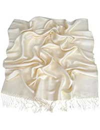 Ivory Solid Color Design Shawl Pashmina Scarf Wrap Stole Throw CJ Apparel NEW