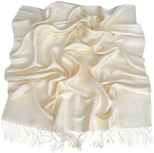CJ Apparel Ivory Solid Color Design Shawl Seconds Scarf Wrap Stole Pashmina NEW from CJ Apparel