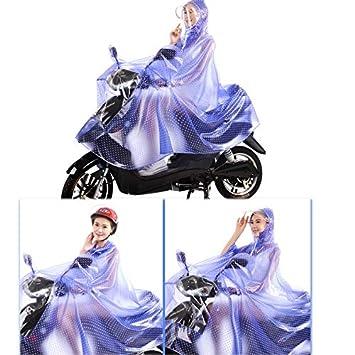 Reflektierend Mit Nachtreiten Ist Sicherer Farbe : A, gr/ö/ße : XXXL Wasserdichter Poncho-elektrischer Roller-Motorrad-Regenmantel Mit Spiegelschlitz