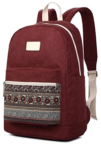 ArcEnCiel Womens Canvas Backpack