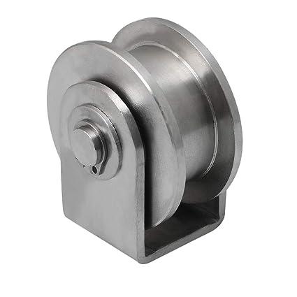 BQLZR - Rodillo de acero inoxidable para rueda corrediza (4,8 x 5,