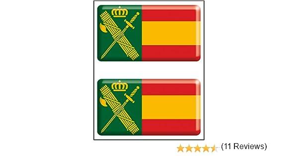 Artimagen Pegatina rectángulos Bandera con Logo Guardia Civil 2 ...