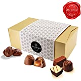Belgian chocolate gift – traditional assortment of dark chocolate, truffles and creamy pralines. Dupont chocolatier – perfect chocolate birthday gift or xmas and other occasion ( color variation)